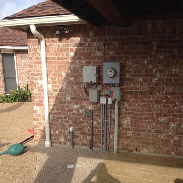 Exposed Electric Meter